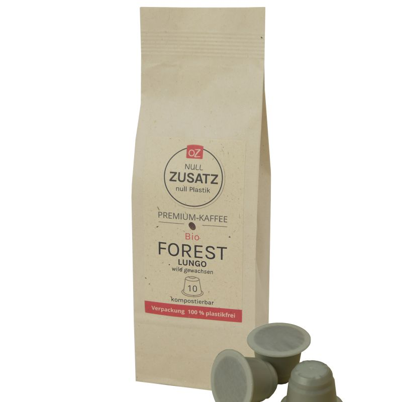 OZ Bio Projektkaffee-Kapseln Forest Lungo 10